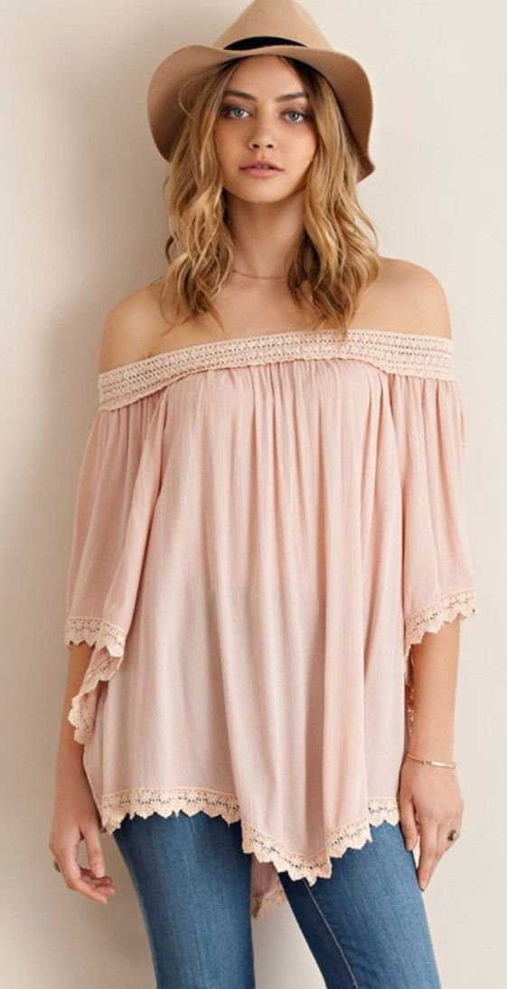 Blush Off the Shoulder Top | s u m m e r CHiC | Pinterest | The ...