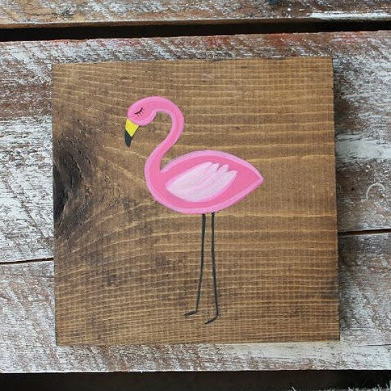Flamingo wood sign pink flamingo flamingo decor