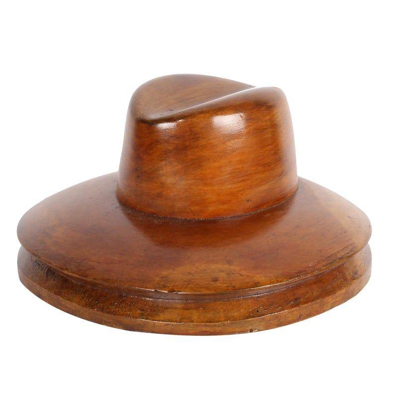 Vintage Millinery Hat Block Fedora In 2020 Millinery Hats Vintage Millinery Hat Blocks