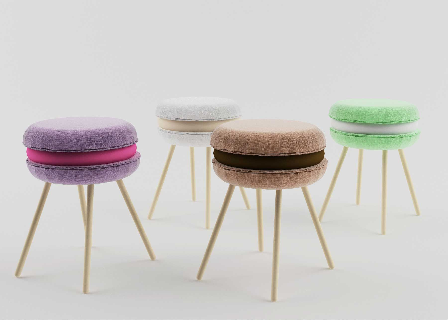 Sgabello Macaron ~ Macaron stool sgabello li ving site index php it