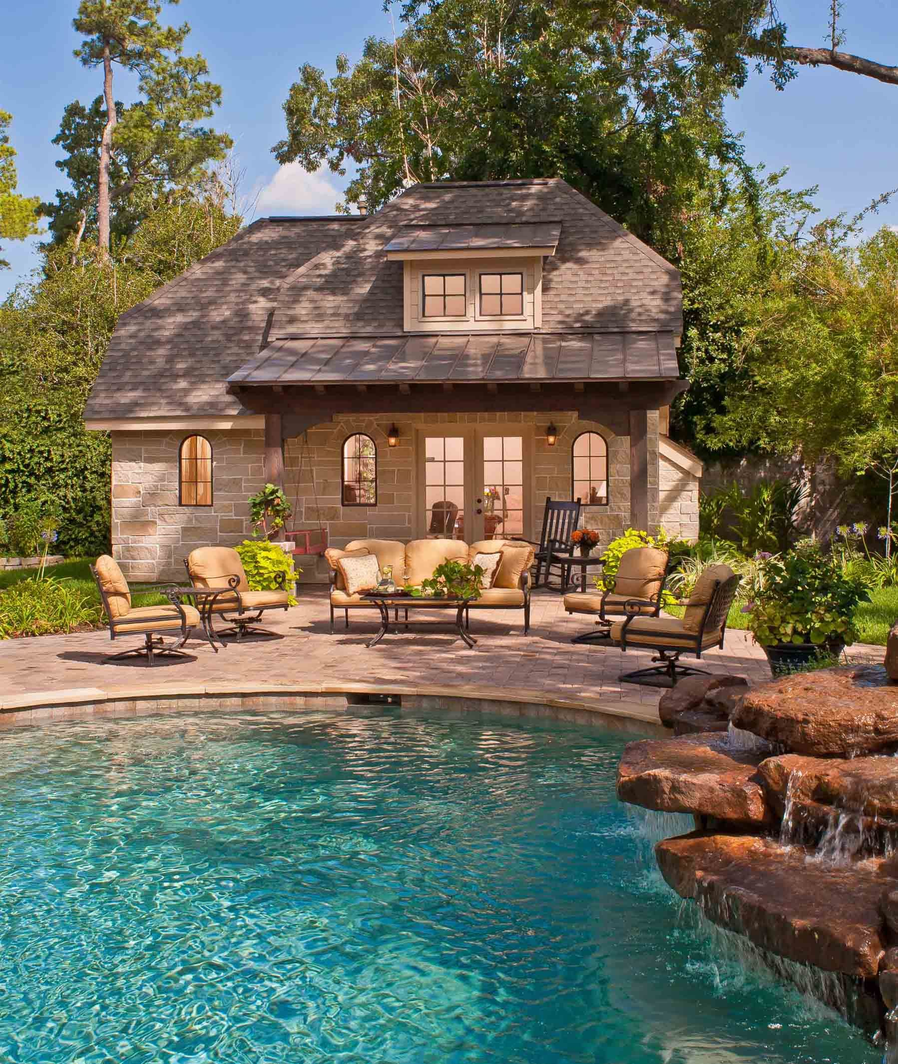 I Love The Cottage Feel Surrounding This Pool One Day