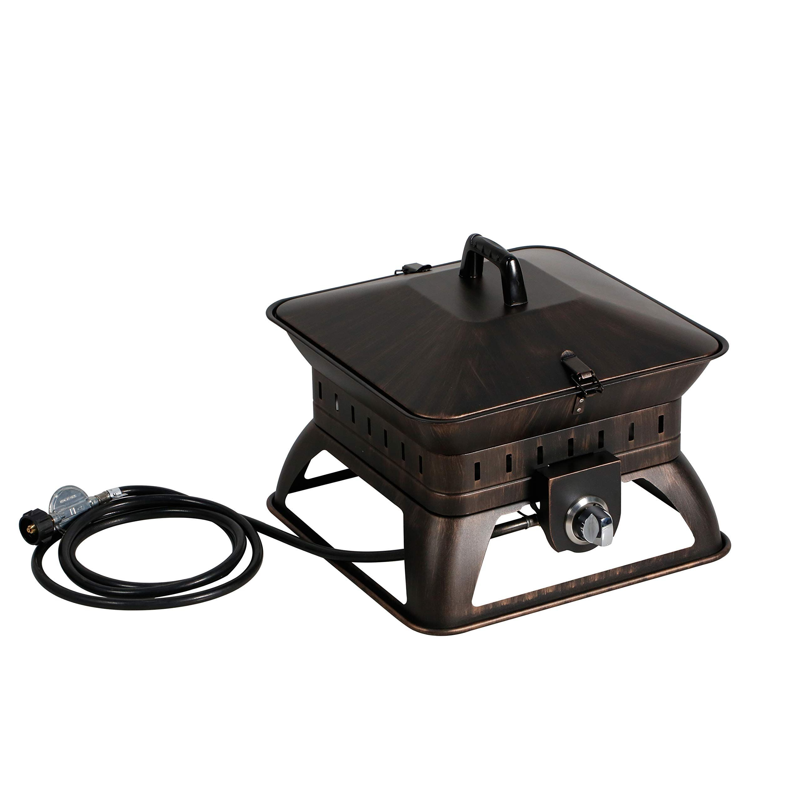 Bali Outdoors Firepit Tailgate Gas Portable Fire Pit Black