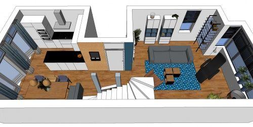 3D impressie interieurontwerp woonkamer Uitgeest by Flow Design ...