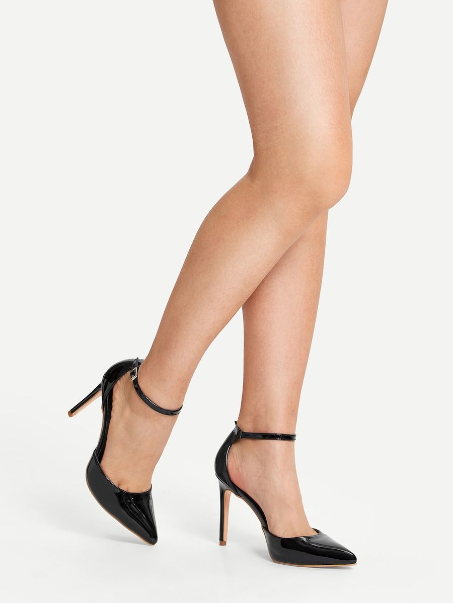 fc0e4fa982 Pointed Toe Ankle Strap Stiletto Heels in 2019   From the feet up ...