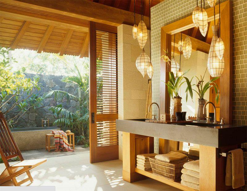 10 Idees De Design Pour Une Belle Salle De Bain Tropicale