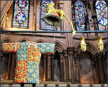 Edward the Black Prince's (1330-1376) armour in Canterbury Cathedral