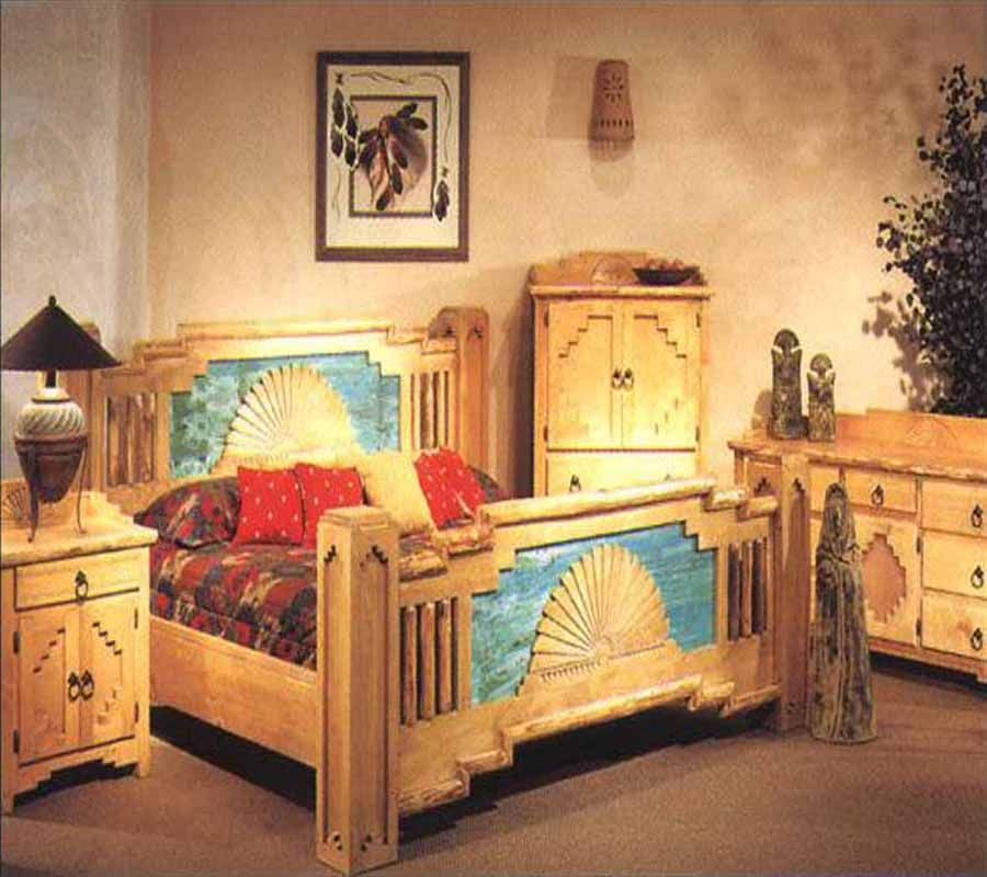 Superior Madrid Bedset Frame In Southwest Style Furniture From New Mexico
