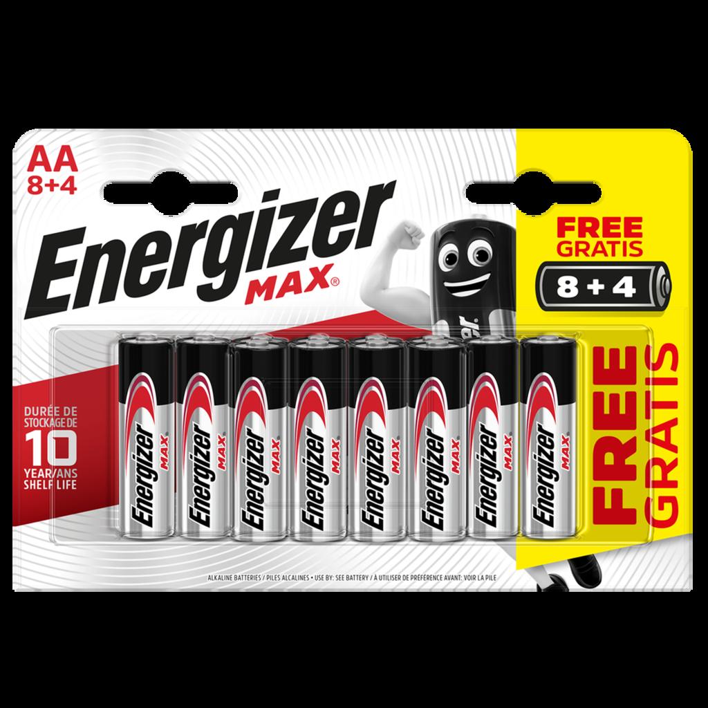 Energizer Max Aa Lr6 Alkaline Batteries 8 4 Promo 12 Pack Aabatteries Energizer Alkaline Battery Coors Light Beer Can