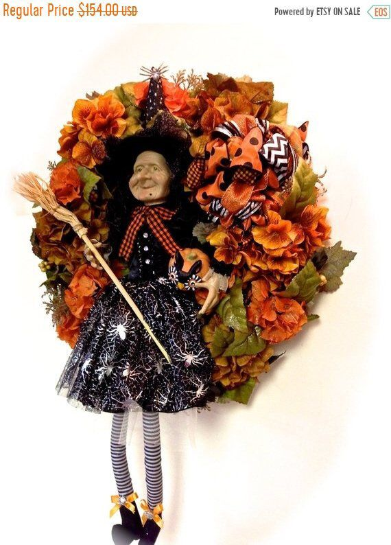 FALL SALE Halloween Wreath 24\