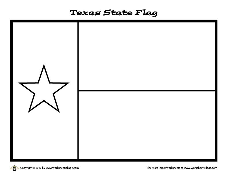 Texas State Flag Coloring Page Worksheet Village Flag Coloring