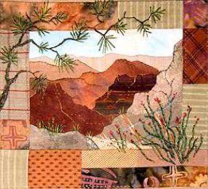 Canyon vista 22 quilt paysages pinterest paysages for Southwest decoratives