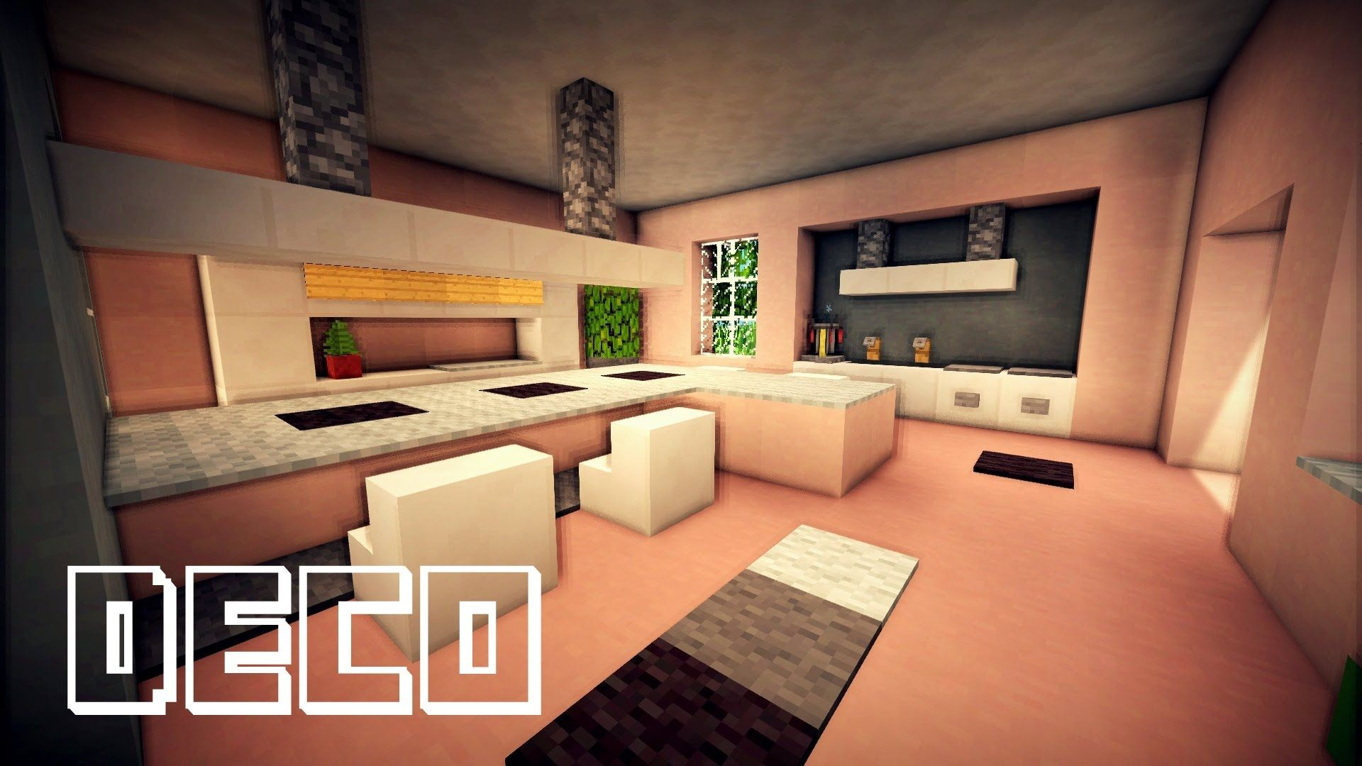 Minecraft Creer Une Cuisine Moderne Minecraft Moderne Maison Moderne Minecraft Salle A Manger Moderne