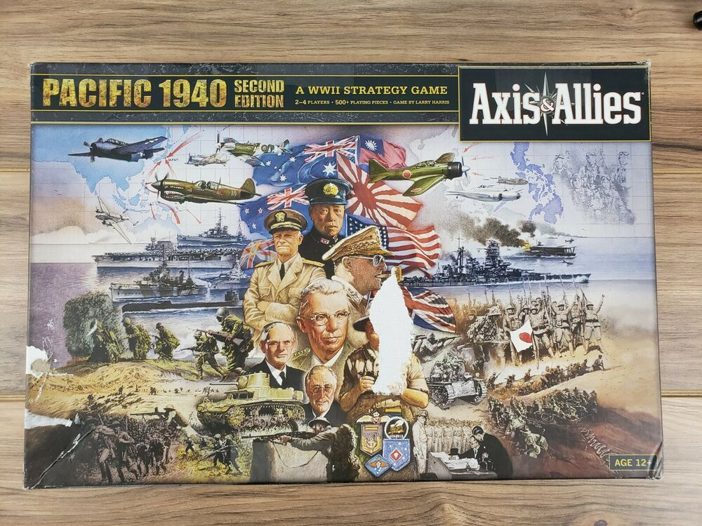 Axis and Allies Europe 1940 WW2 War Board Game Second