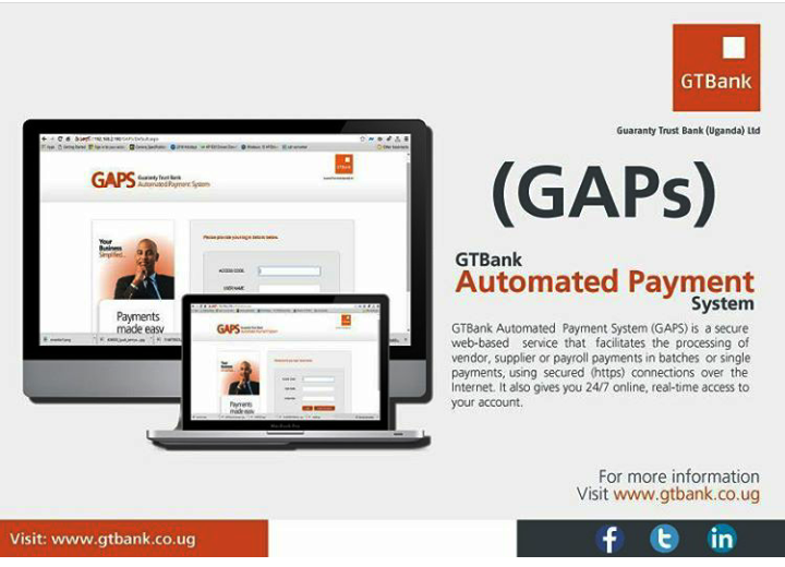 Gtbank Automated Payment System Gaps Is A Secure Web Based