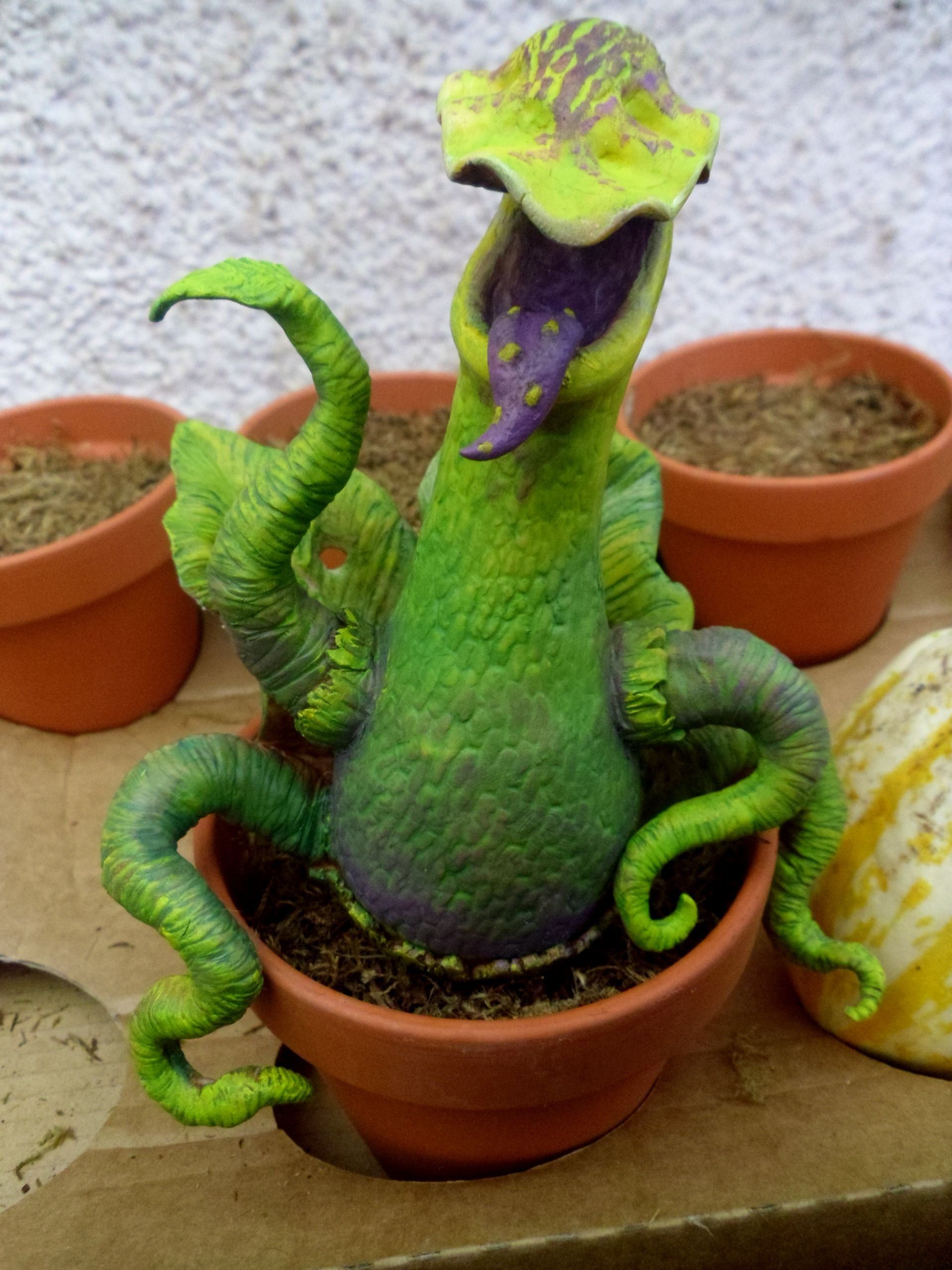 weird growing dude Man eating plant, Eating plant