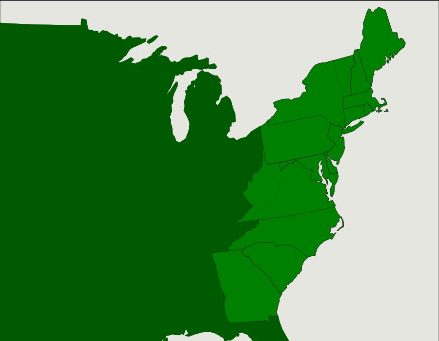 The US 13 Colonies Map Quiz Game Social studies Pinterest