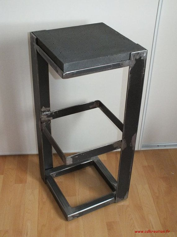 Industrial design bar stool unique and modern in crude steel and