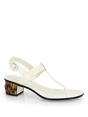 db6dd93b6 Gucci Dahlia Leather Bamboo-Heel Thong Sandals   Shoes worth seeing ...