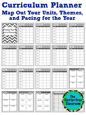 Tips for Curriculum Planning {Mapping, Long Range Plans, Year-Long - teachers planning calendar