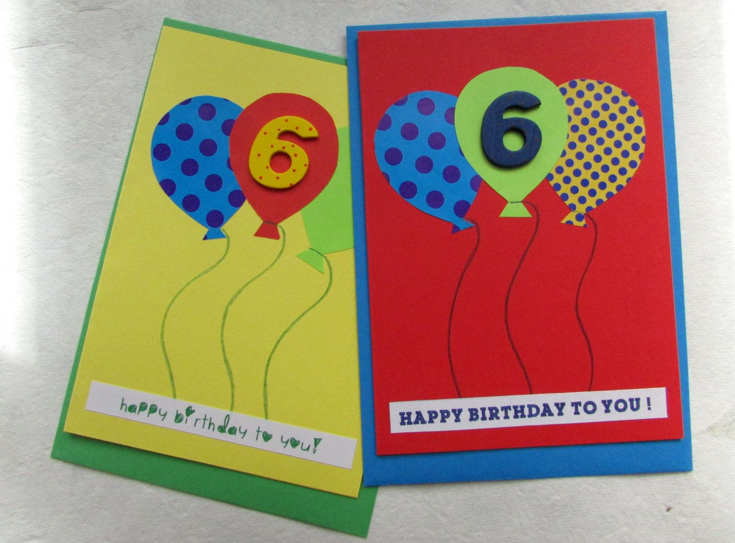 Age 6 Birthday Card With Balloons