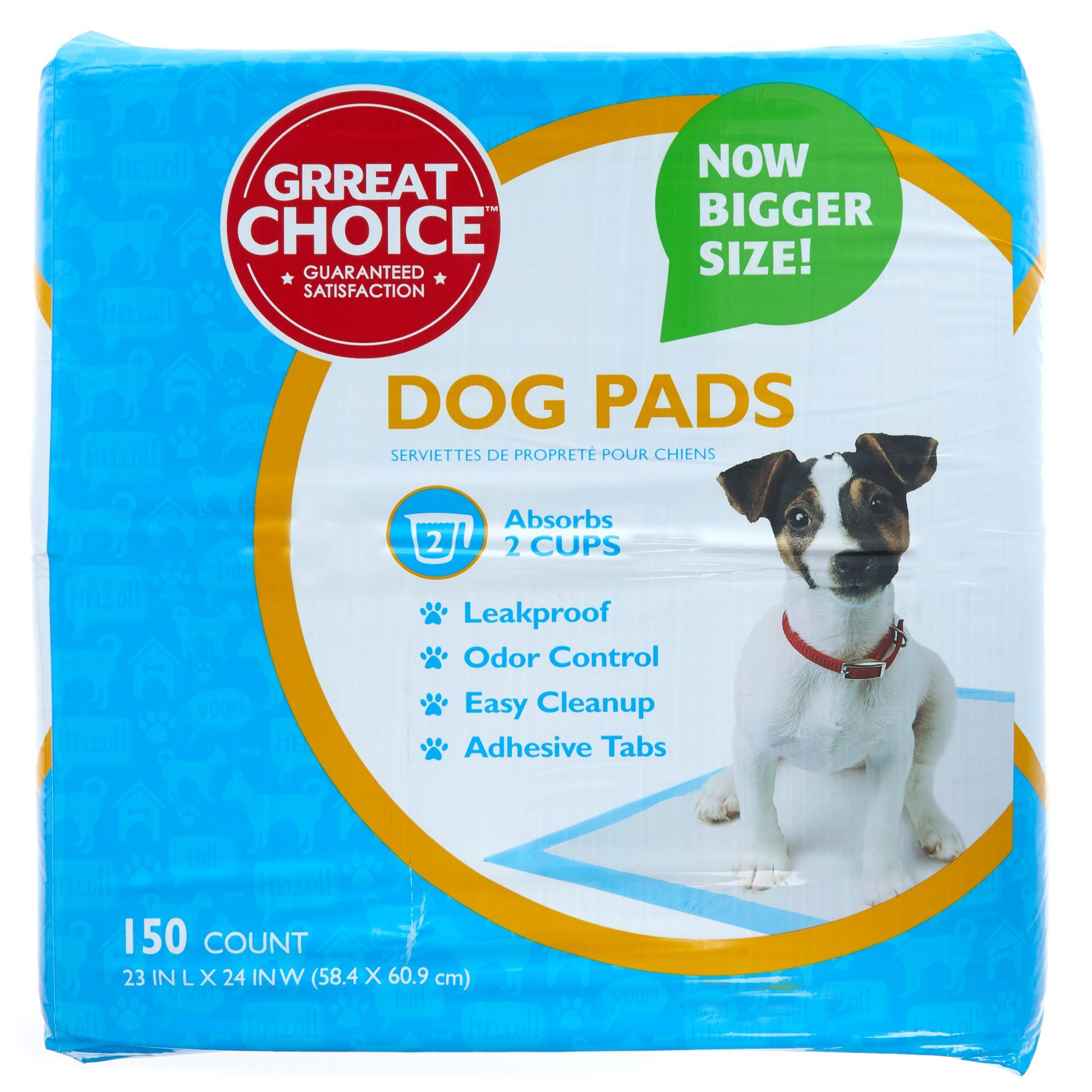 Grreat Choice Dog Pads Size 150 Count Great Choice Blue White