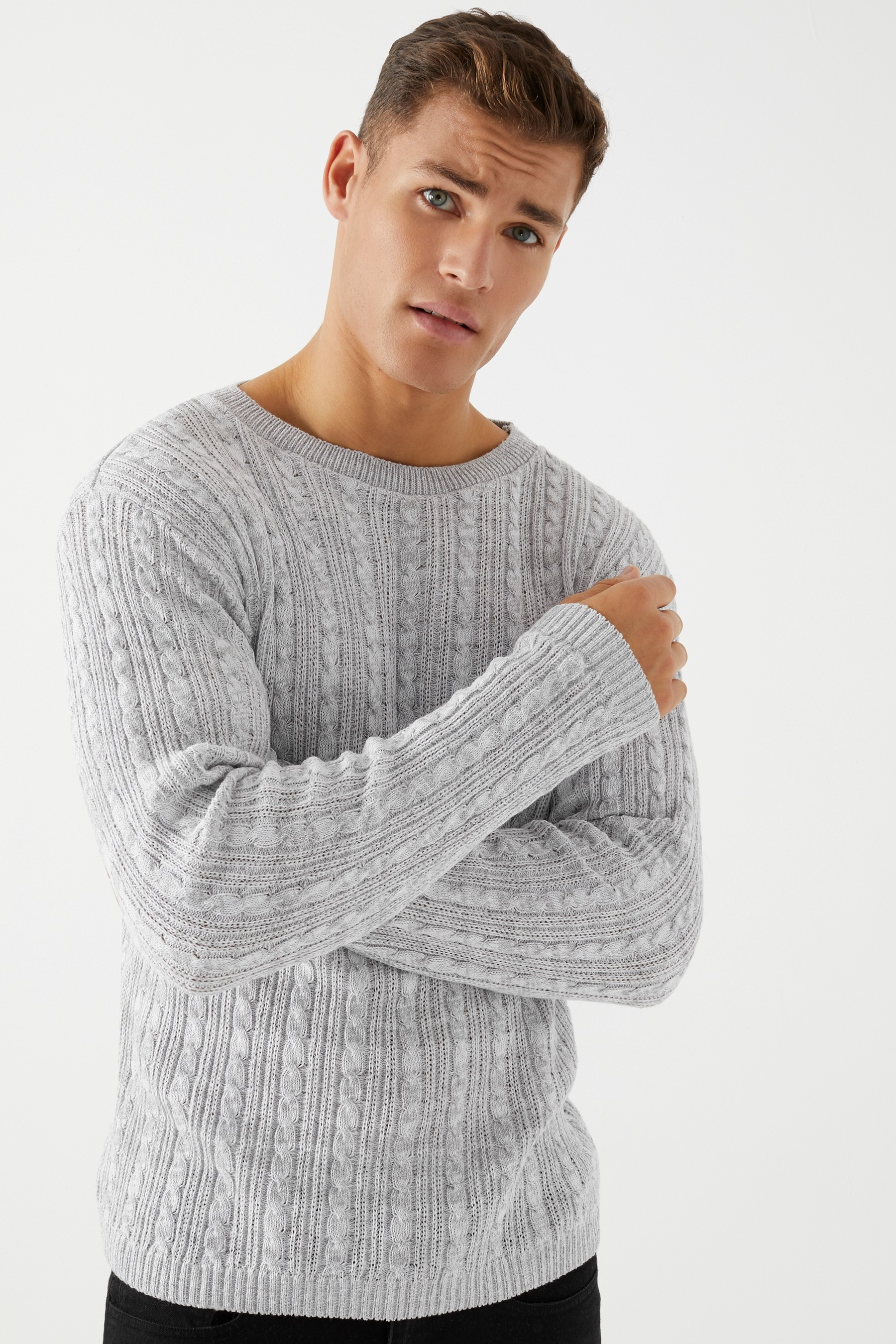 Mens Boohoo Man Jumper Grey | Jumper, Fashion, Boohoo