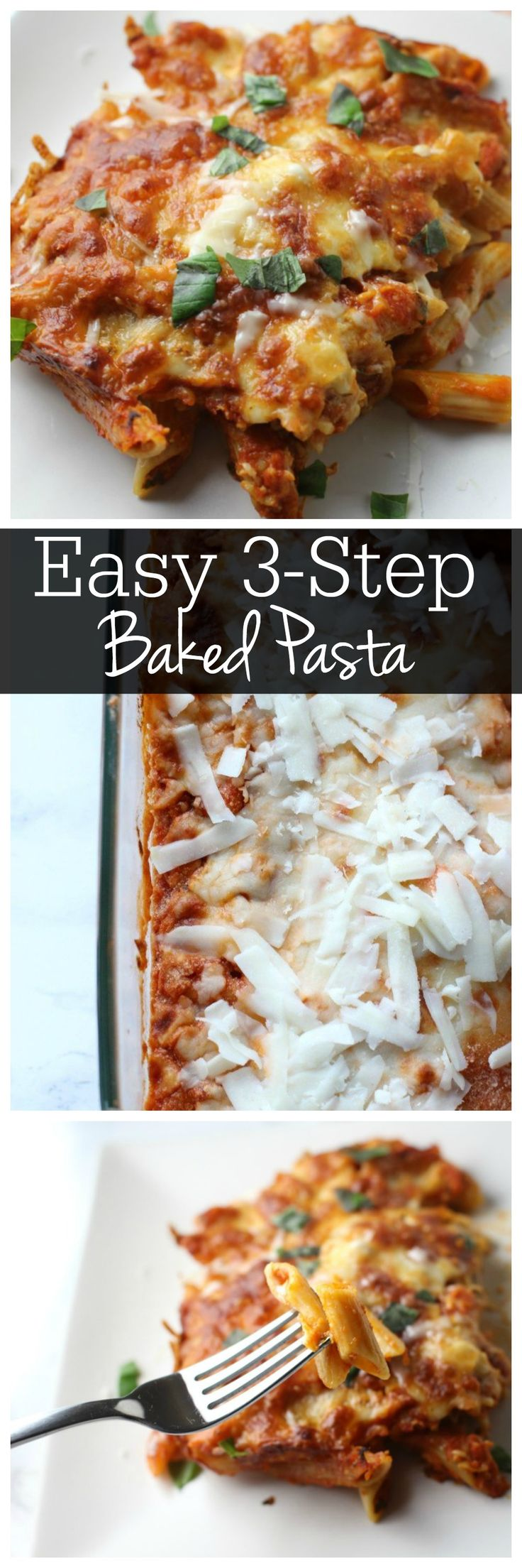 3 Step Pasta Bake Pasta Recipes Baked Pasta Recipes Dinner