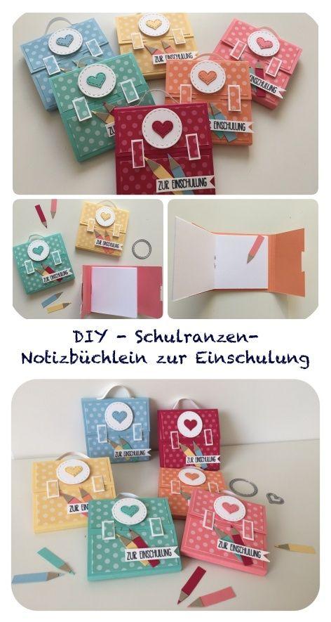 Photo of Mini-Schulranzen-Notizbuch zur Einschulung mit Video-Tutorial