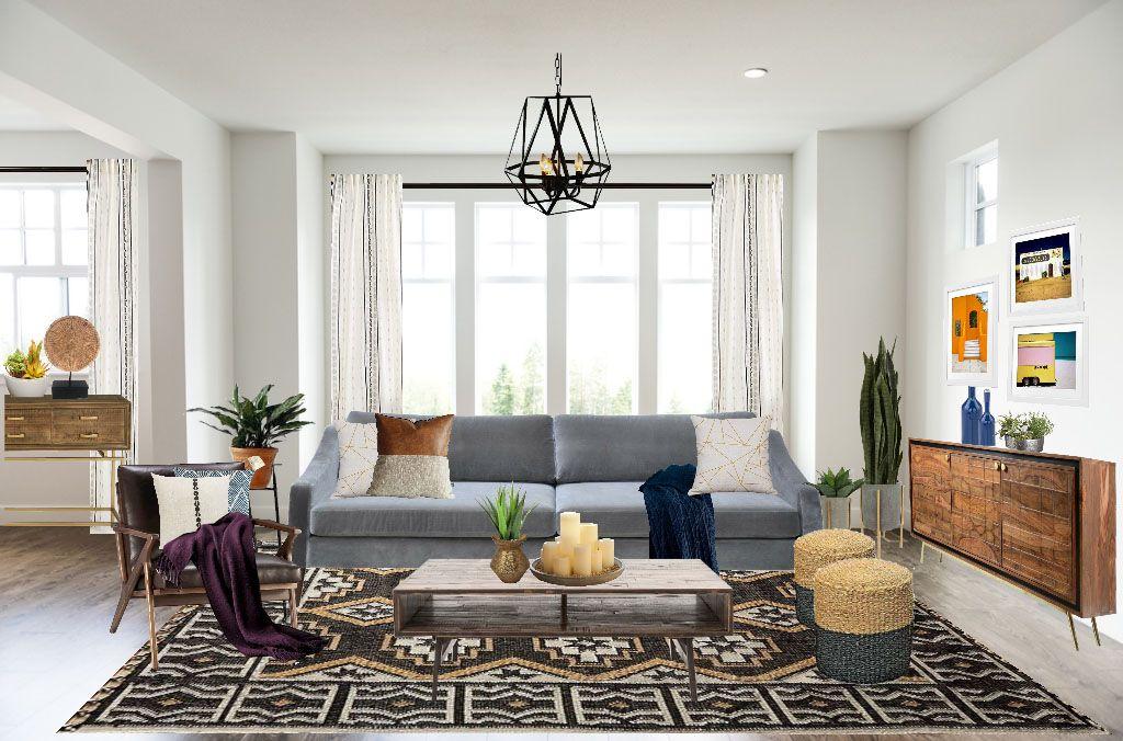 Eclectic Living Room Design In Open Floor Plan Modern Eclectic Living Room Rustic Living Room Eclectic Living Room Design