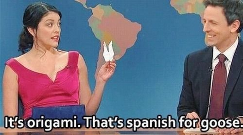 Cecily Strong And Seth Meyers During Weekend Update The Girl You