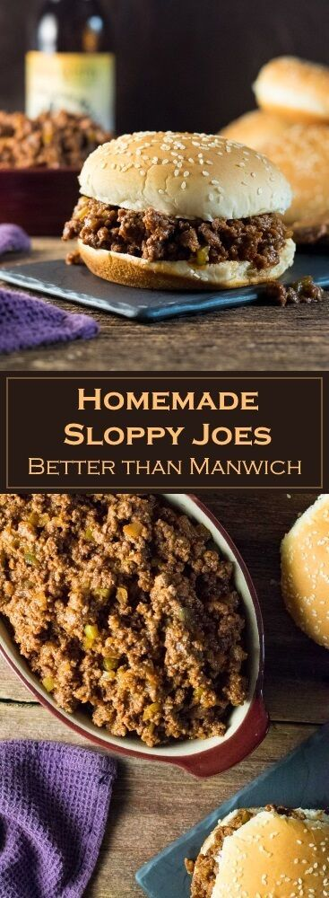 Homemade Sloppy Joes - Better than Manwich #homemadesloppyjoes Homemade Sloppy Joes - Better than Manwich via @foxvalleyfoodie #homemadesloppyjoes