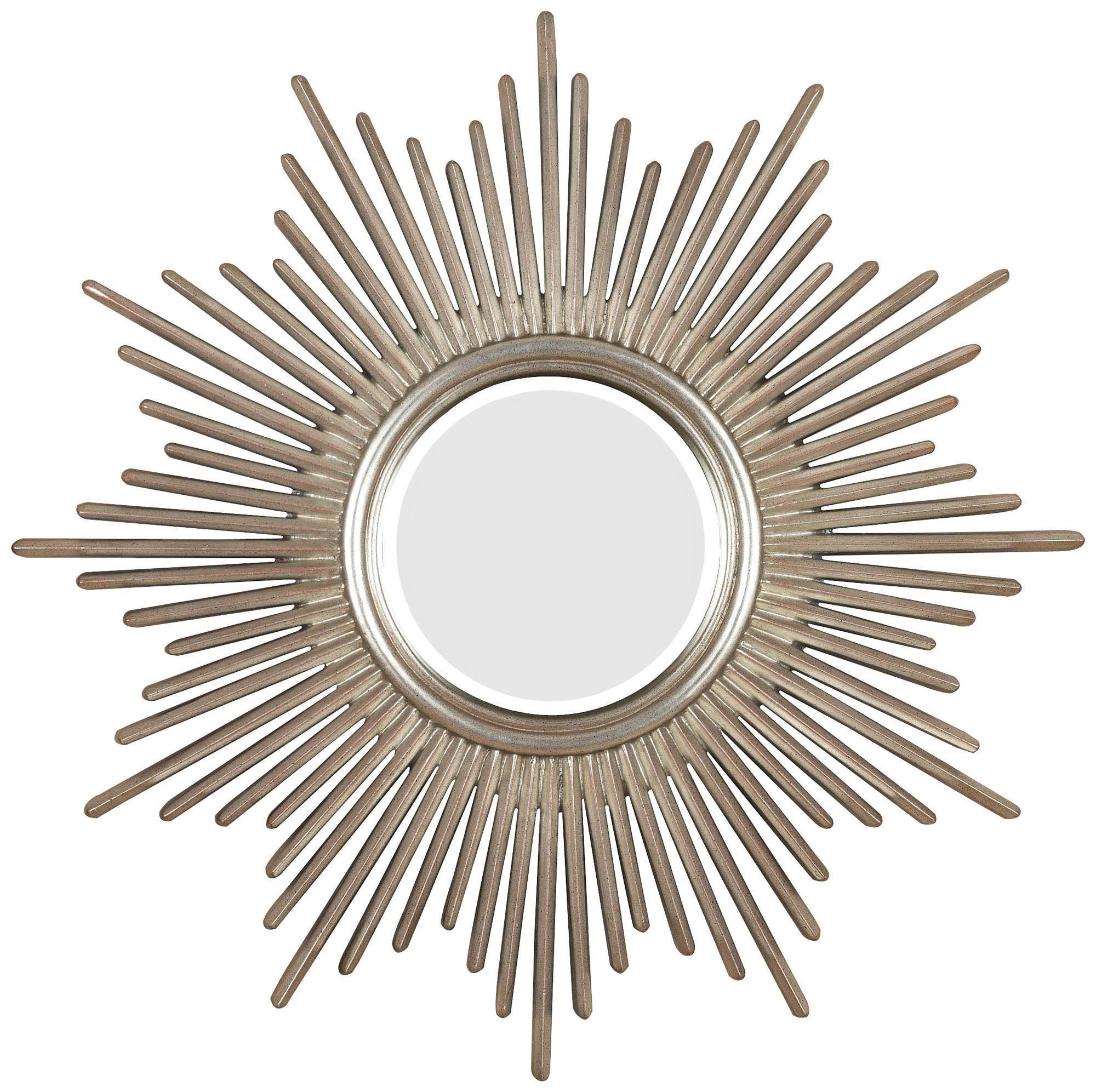 Wire capiz sunburst wall mirror - Sunburst Reflections 36 High Wall Mirror