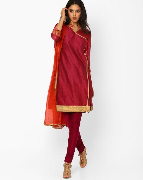 c3ea49ea061735 Angrakha Churidar Kurta with Dupatta | suits | Churidar, Suits ...