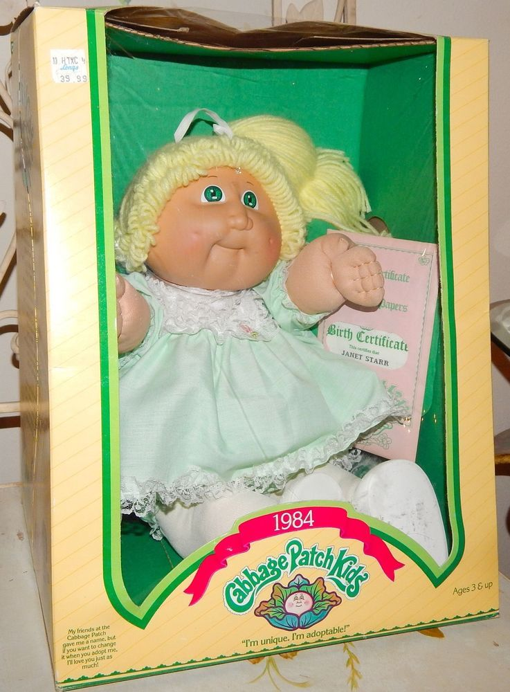 1984 Cabbage Patch Doll Blonde Hair Green Eyes With Papers Beautiful Nib Cabbagepatchkids 145 Cabbage Patch Dolls Blonde Hair Green Eyes Patch Kids