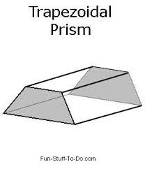 Image Result For Trapezoid Prism Printable Shapes 3d Geometric