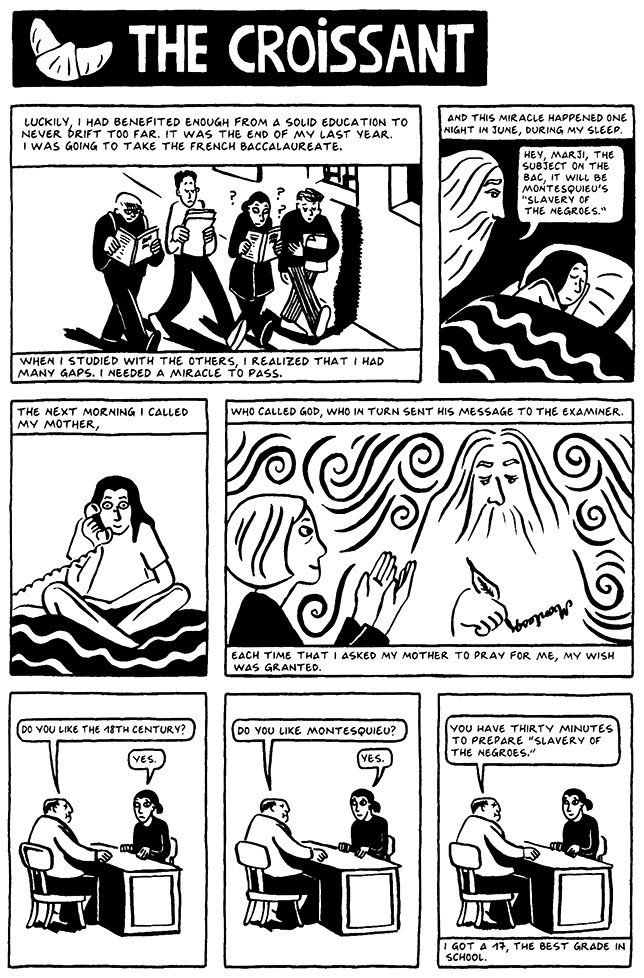 Chapter 8 The Croissant From Persepolis 2 The Story Of A Return Literature Books Graphic Novel Reading