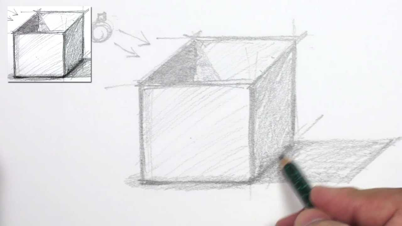 How to draw 3d shapes 3d box drawing lesson