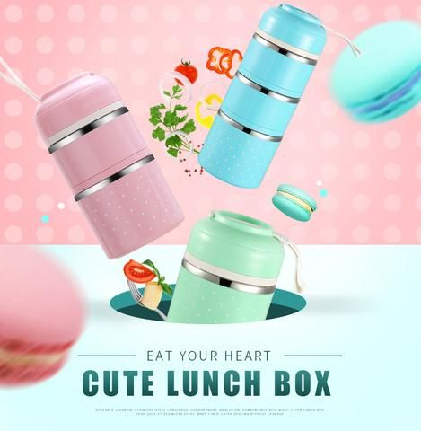 Stackable Stainless Steel Thermal Lunch Box | Healthy Work Lunch Ideas To Keep You Full Going somewhere? Prefer to carry lunch to work? If you like to eat your food hot and fresh, even hours after it was cooked, then you should own Thermal Lunch Box.