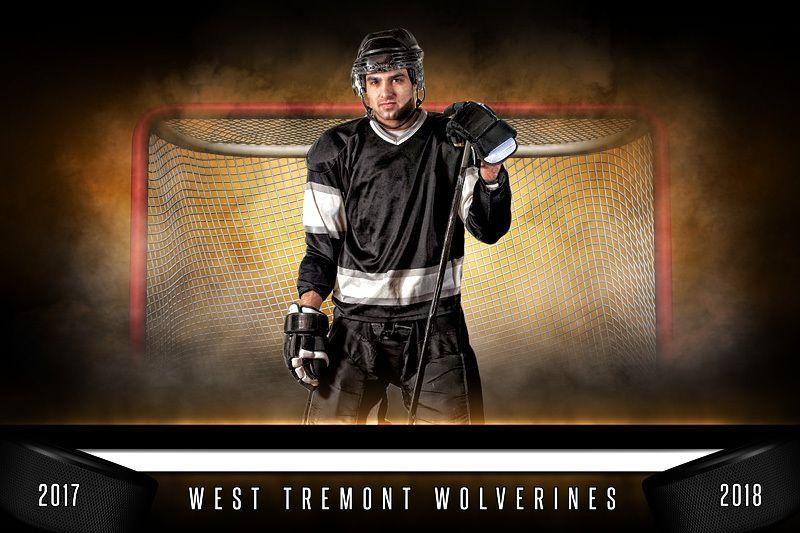 Player banner photo template horizontal fantasy hockey
