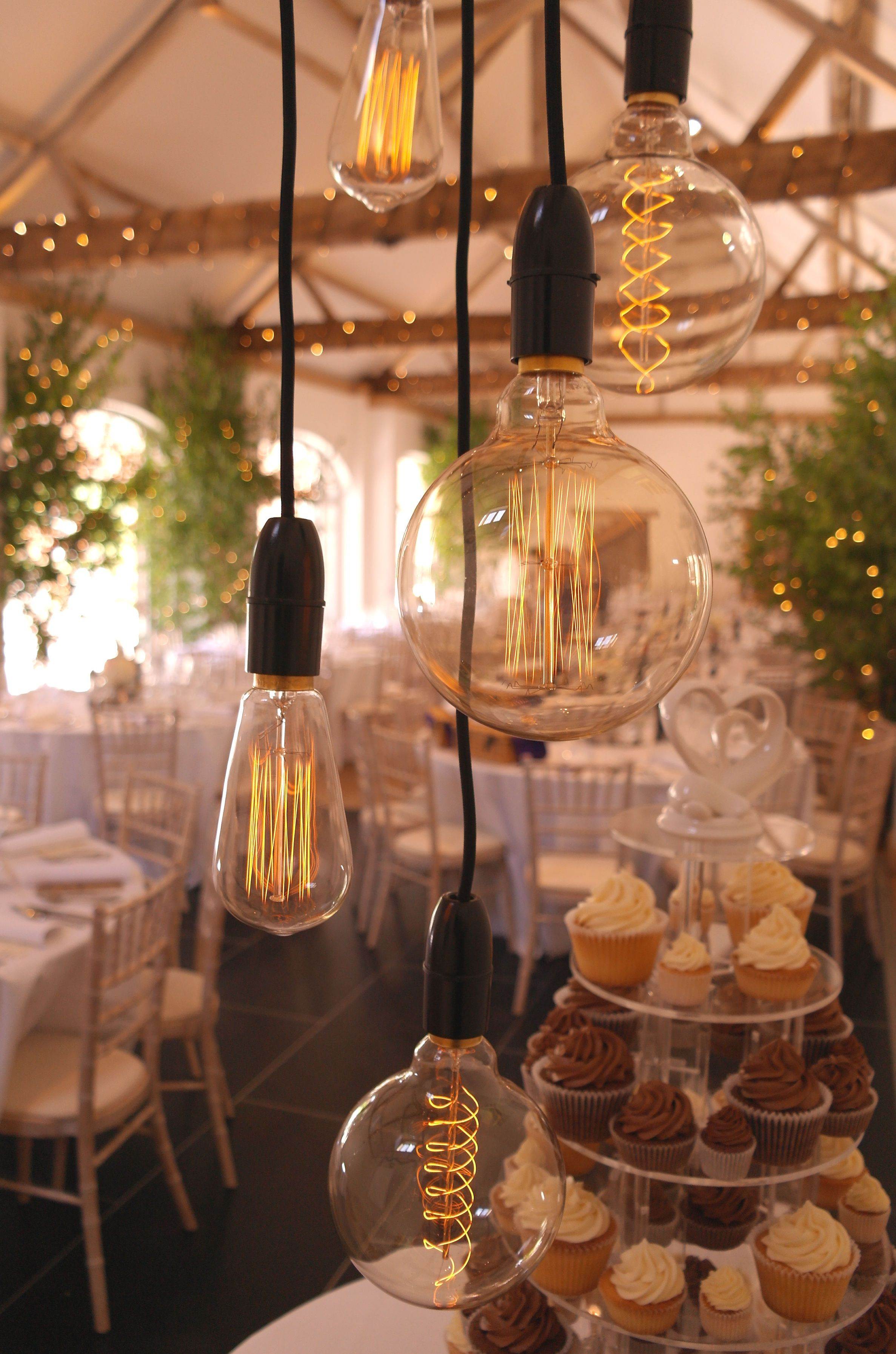 Our filament festoon lights shown here at Dorney Court