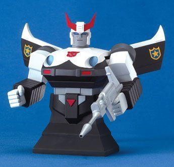 Transformers Prowl Cold Cast Porcelain Bust by Hard Hero. $54.95