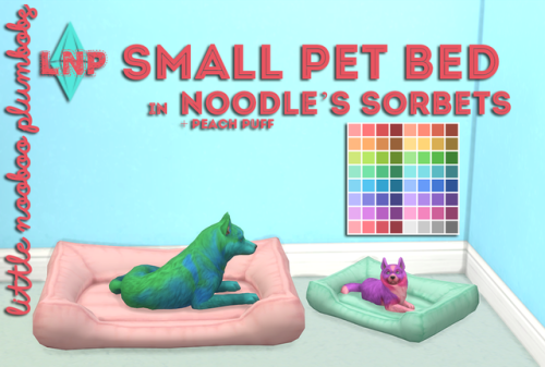 Littlenoobooplumbobs Small Pet Bed Mesh From Magicalgirlsimmer Required 65 Swatches In Noodle S Sorbets Plus Peach Puff Sims Pets Sims 4 Pets Sims