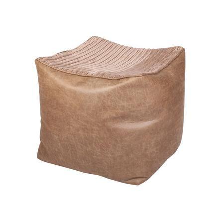 Latte Jumbo Cord Bean Cube | Dunelm
