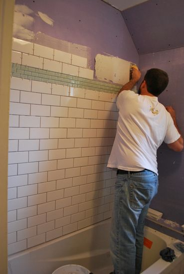 project bathroom: tiling | Bathroom tiling, Bath and House