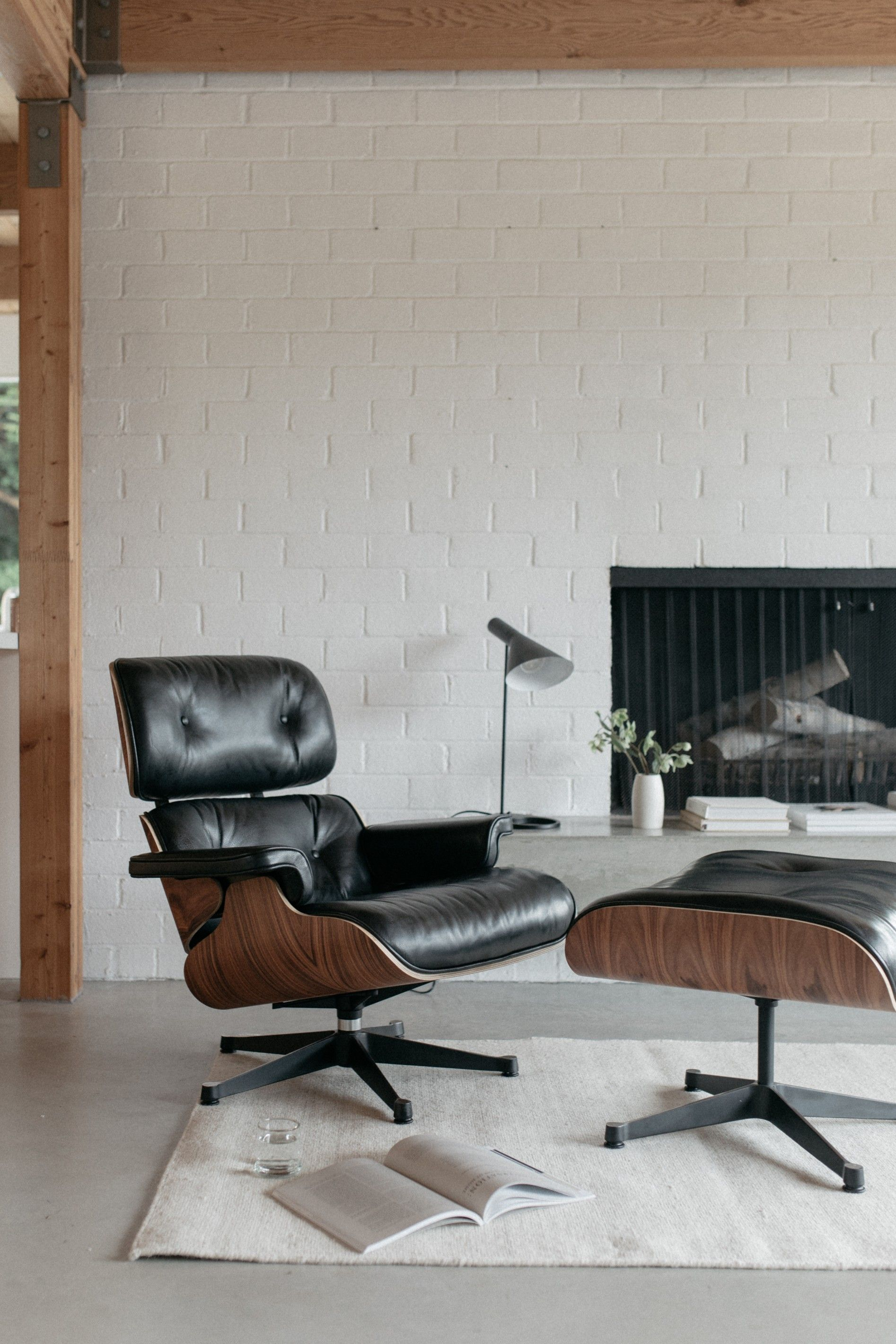 Eames Lounge Chair Living Room eames lounge chair and ottoman #midcentury #modern #design