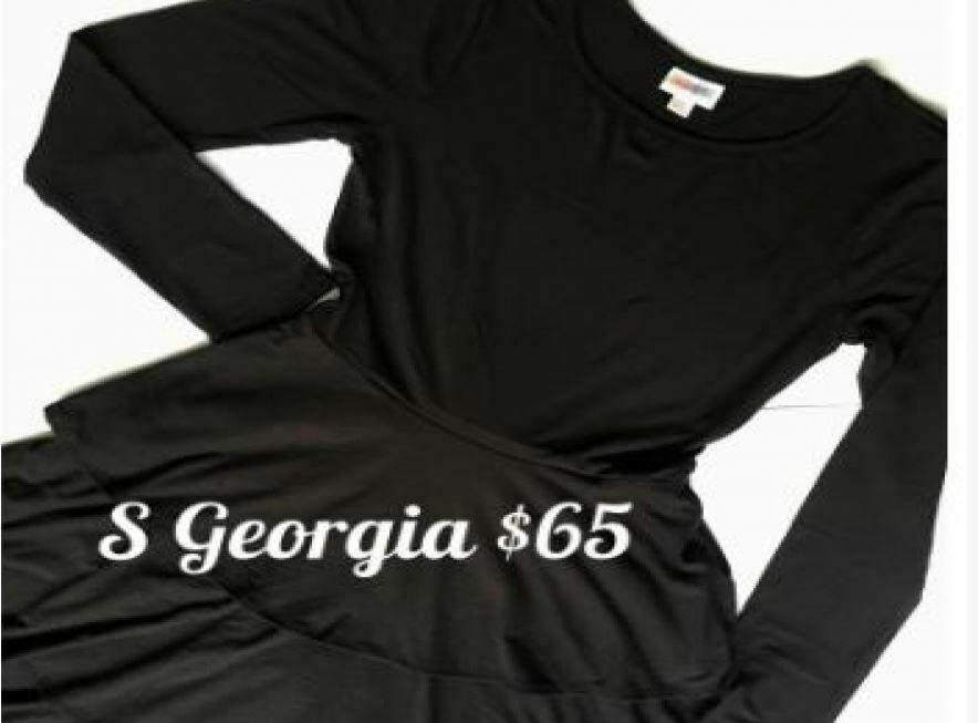 ec61bc44620f4 LULAROE GEORGIA SOLID BLACK RUFFLE DRESS SIZE SMALL NWT #LuLaRoe ...