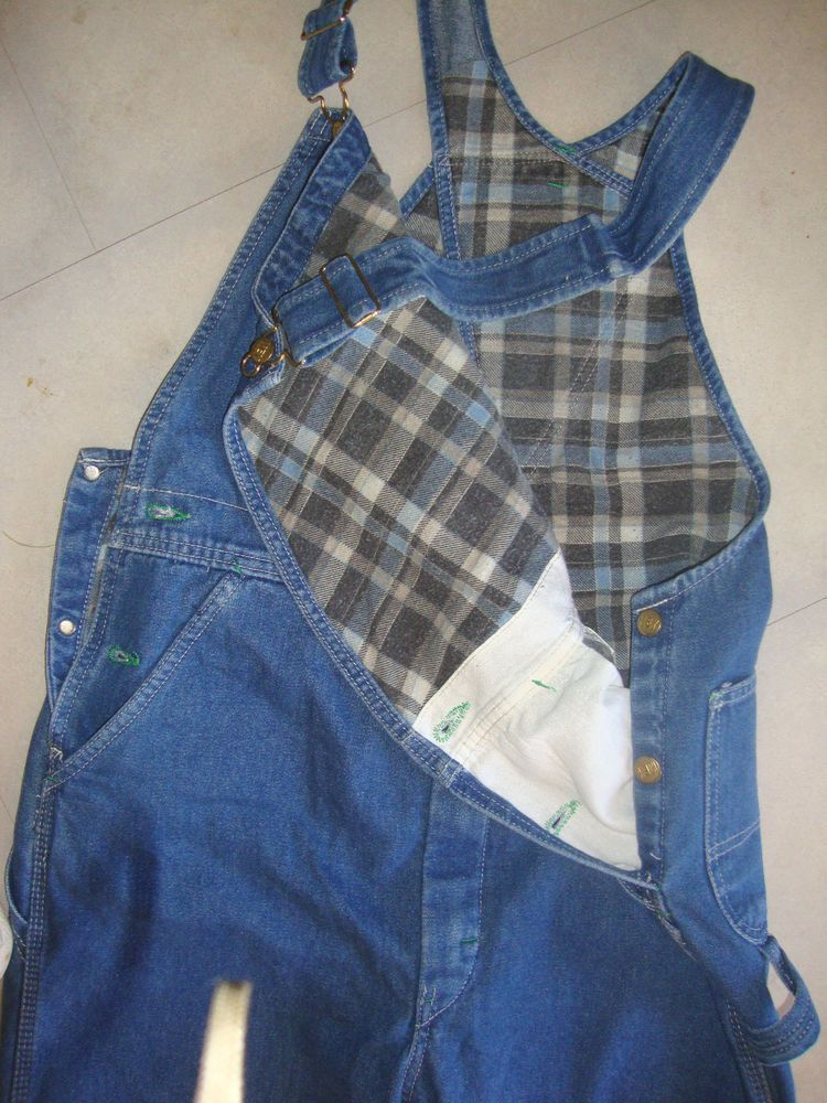 nwt mens flannel lined bib overalls sz 36x34 large key on insulated overalls for men id=98893