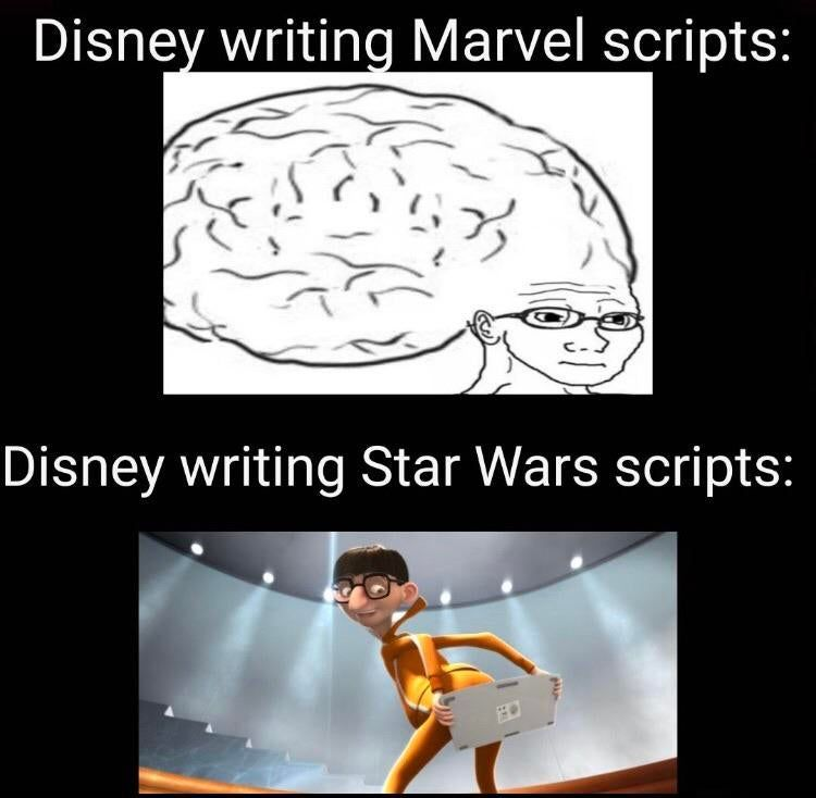 Only Real Cinephiles Can Understand The Complexity Of A Marvel Script Funny Relatable Memes Funny Disney Memes Funny Memes