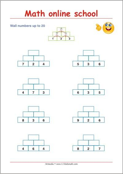 1st Grade Math - Adding up to 20 - Free math printables | Math ...