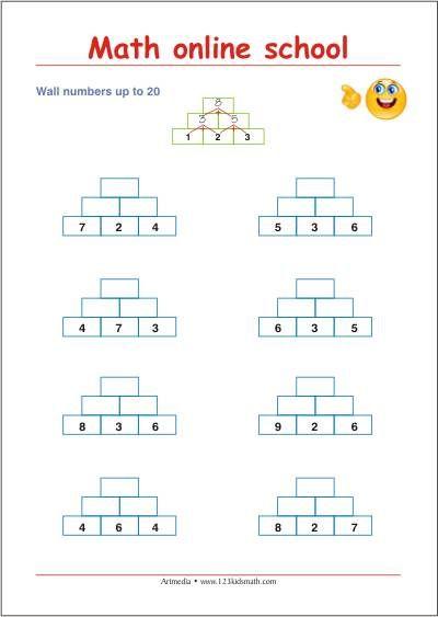 First class math - Adding up to 20 - Free math printables | Math ...